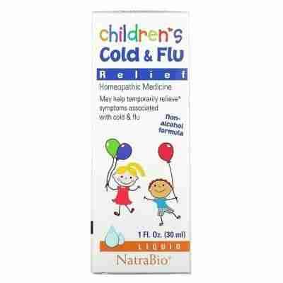 NatraBio, دواء الانفلونزا والبرد للأطفال