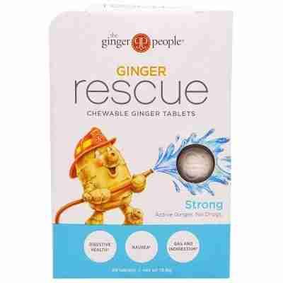 The Ginger People, Ginger Rescue، وأقراص زنجبيل للمضغ، قوية، 24 قرص (15.6 جم)