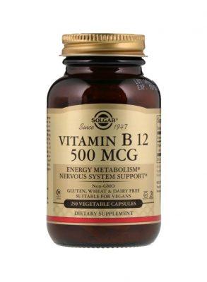 سولجر مكمل غذائي فيتامين B12 بتركيز 100 ميكروجرام - 100 قرص Solgar
