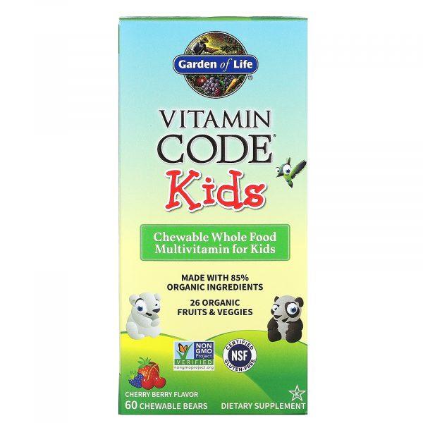 Vitamin Code فيتامينات متعددة للأطفال نكهة التوت والكرز 60 قطعة قابلة للمضغ